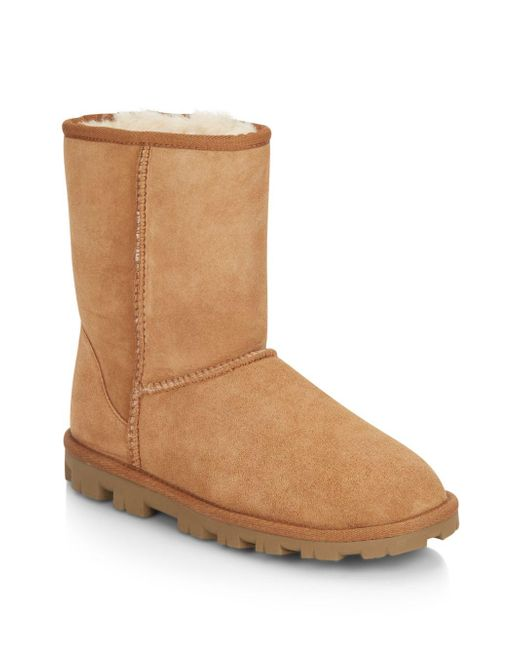 f837e24a9d71 Lyst - UGG Essential Short Shearling-lined Suede Boots in Brown
