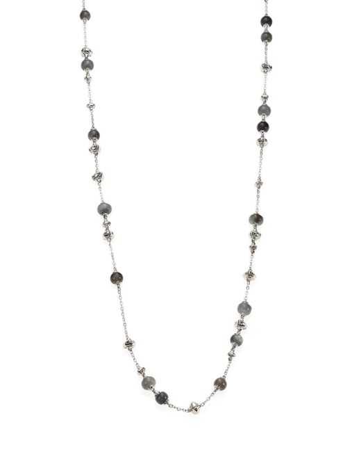 John Hardy - Gray Bamboo Grey Moonstone & Sterling Silver Sautoir Necklace/36 - Lyst