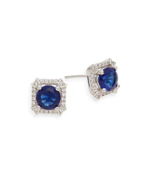 Saks Fifth Avenue   Metallic Pavé Stud Earrings   Lyst