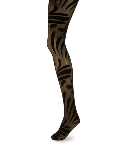 Wolford - Black Droplet Print Tights - Lyst