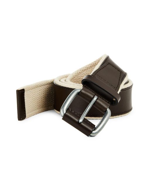 Cole Haan - Brown Webbing Leather Belt for Men - Lyst