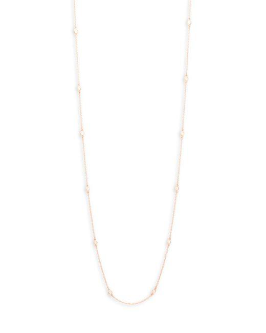 Freida Rothman - Metallic Crystal Single Strand Necklace - Lyst