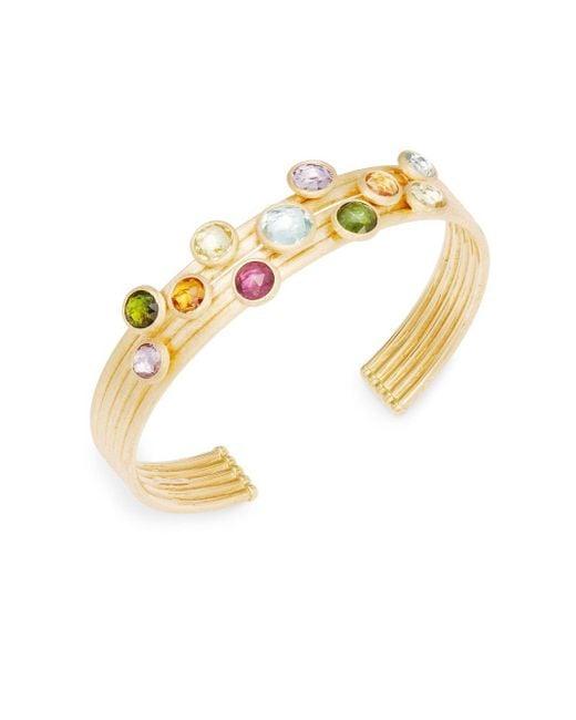 Marco Bicego - Gray 18k Yellow Gold & Multi-stone Bracelet - Lyst
