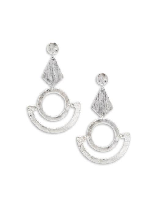 Gemma Simone   Metallic Silvertone Geometric Dangle & Drop Earrings   Lyst