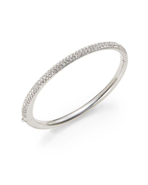 Adriana Orsini | Metallic Half-pave Bangle Bracelet | Lyst