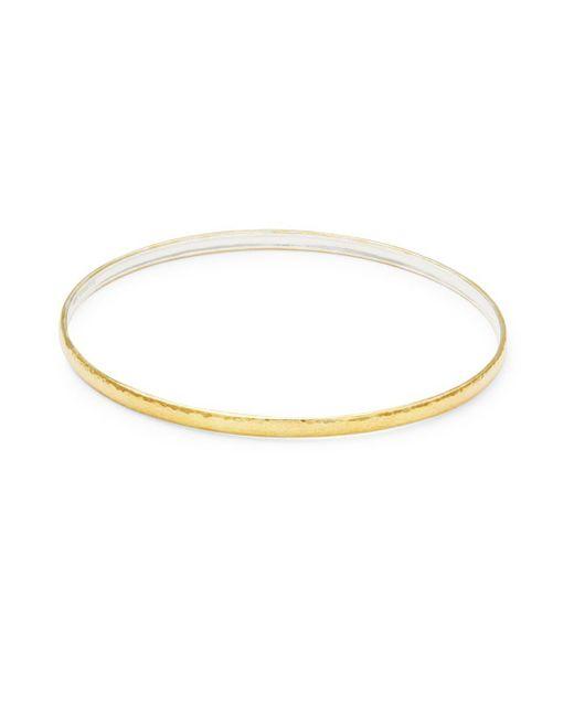 Gurhan - Metallic Sterling Silver Goldplated Bangle - Lyst