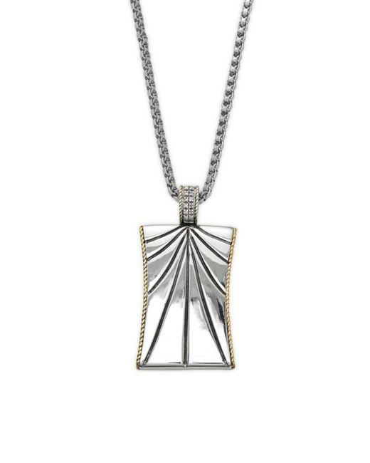 Effy - Metallic Sterling Silver & Diamond Pendant Necklace - Lyst