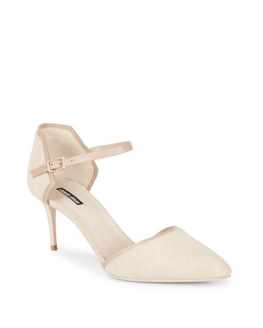 Giorgio Armani | Natural Leather Ankle-strap Pumps | Lyst
