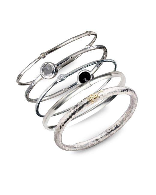 Ippolita - Metallic Sterling Silver Slim Bracelet - Lyst