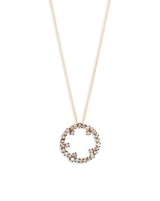Suzanne Kalan - Metallic Champagne Diamond And 14k Yellow Gold Starburst Pendant Necklace - Lyst