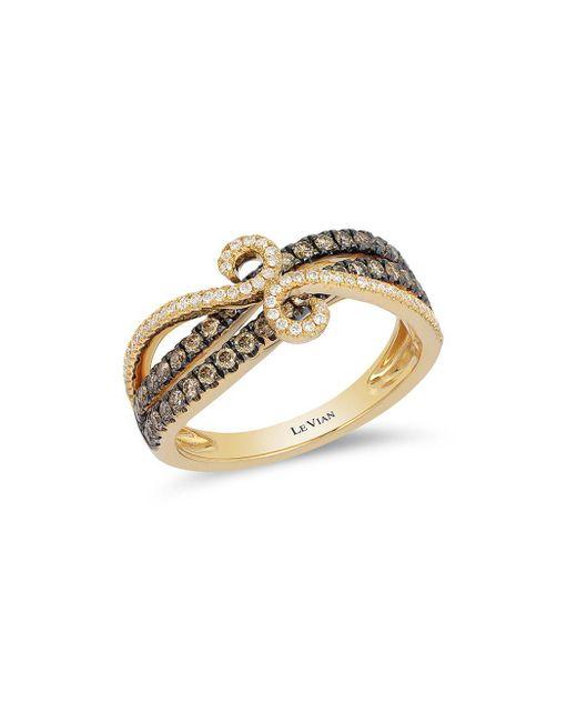 Le Vian - Metallic Chocolatier® Chocolate & Vanilla Diamond® Swirl Band Ring - Lyst