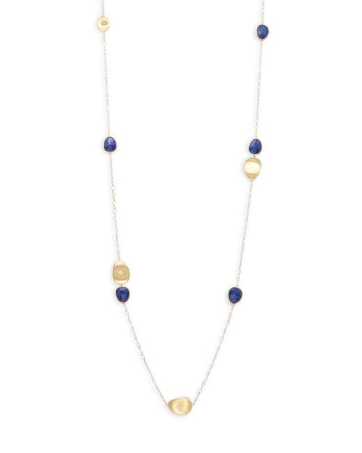 Marco Bicego - Metallic Jaipur Resort Lapis & 18k Yellow Gold Station Necklace/36 - Lyst