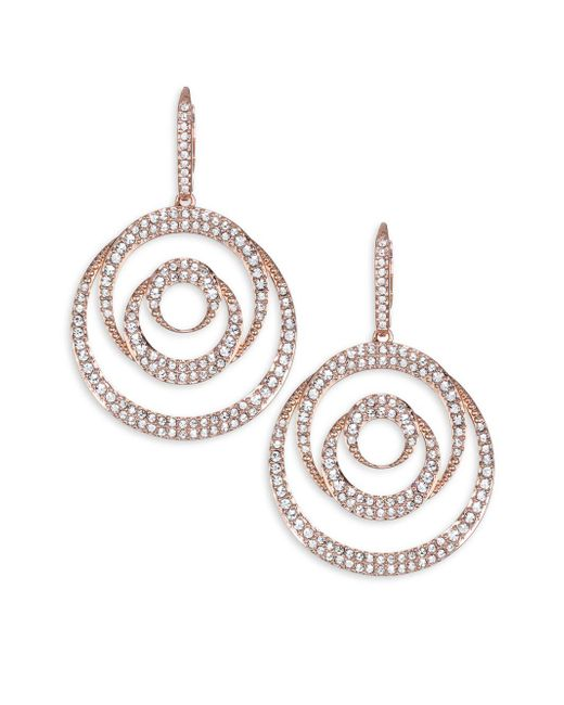Adriana Orsini - Metallic Spiral Post Earrings - Lyst