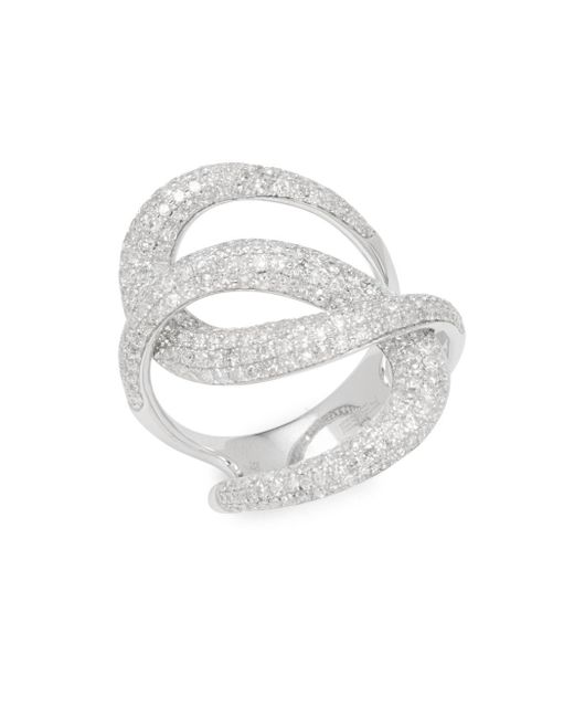 Effy - Metallic Twisted 14k White Gold & 1.73 Tcw Diamond Ring - Lyst