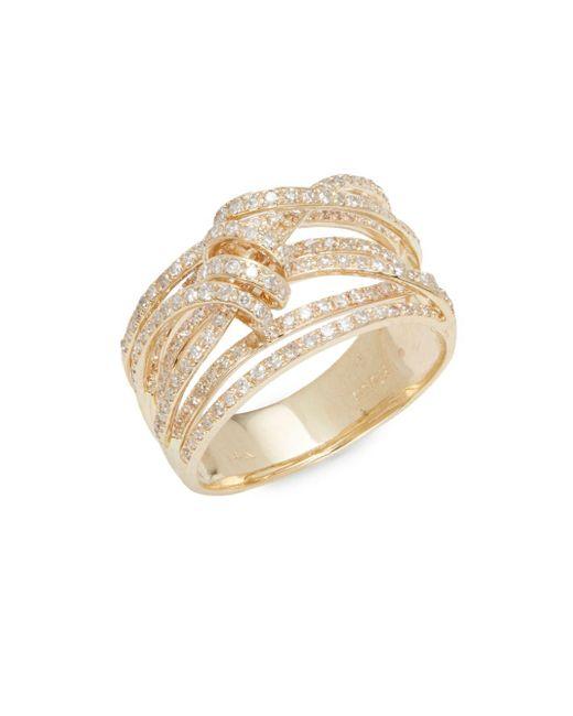 Effy - Metallic Diamond & 14k Yellow Gold Ring - Lyst