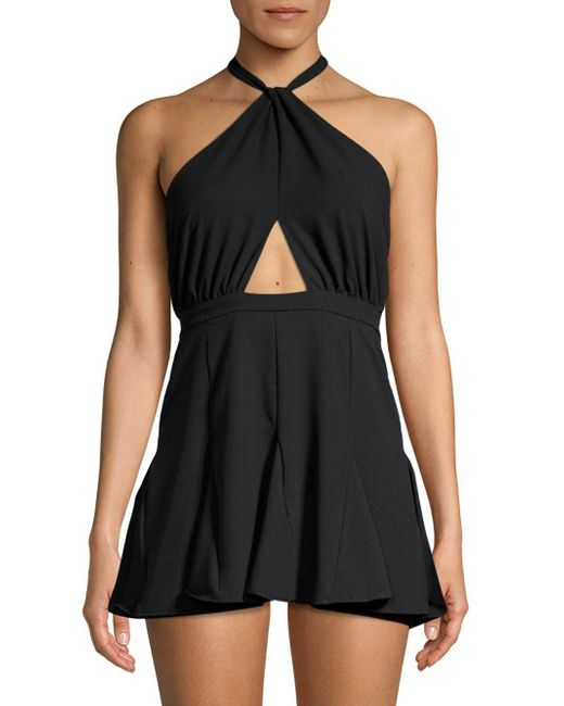 6 Shore Road By Pooja - Black Halter Cut-out Mini Dress - Lyst