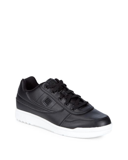 Fila - Black Round Toe Low-top Sneakers for Men - Lyst