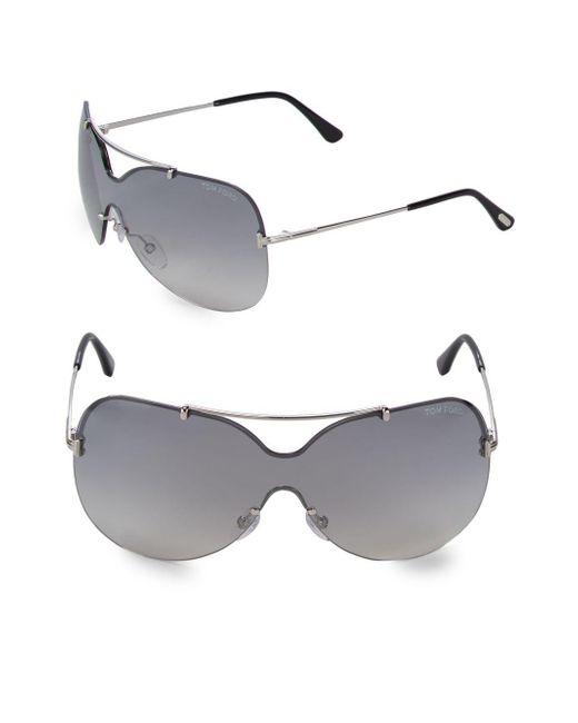 Tom Ford - Gray 69mm Rimless Sunglasses - Lyst