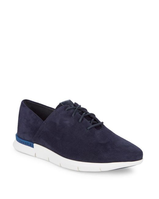Cole Haan - Blue Grand Horizon Suede Sneaker - Lyst