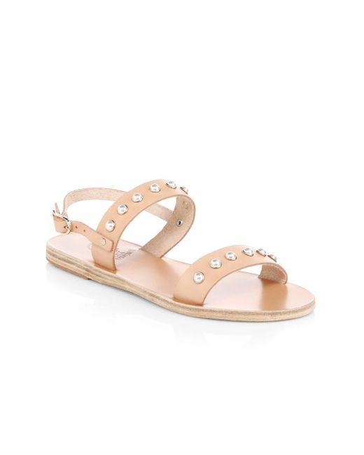 Ancient Greek Sandals - Natural Clio Pearls Leather Sandals - Lyst