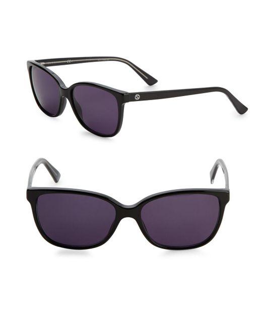 Gucci - Black 53mm Wayfarer Sunglasses - Lyst
