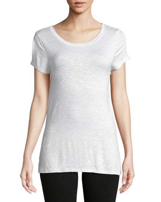 Marc New York - White Crisscross Strappy Tee - Lyst