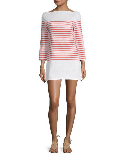 Lyst - MILLY Mariner Sweater Dress in White - Save 43% 6b99e8333