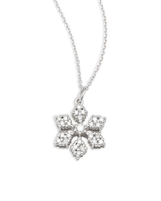 KC Designs | Metallic Diamond & 14k White Gold Snowflake Pendant Necklace | Lyst