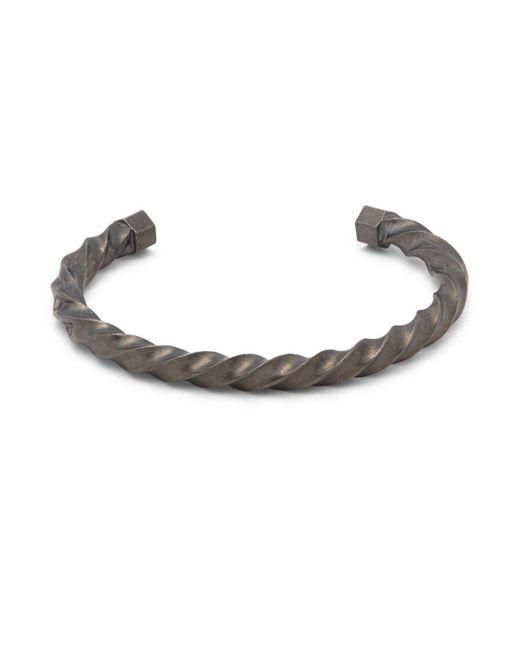 Giles & Brother - Metallic Twist Cuff Bracelet - Lyst
