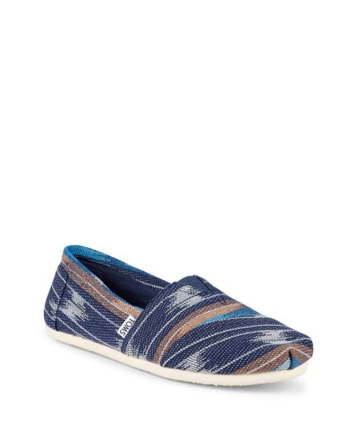TOMS - Blue Eclipse Cultural Slip-on Sneakers for Men - Lyst