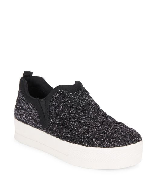 Ash - Black Jane Glittered Slip-on Sneakers - Lyst