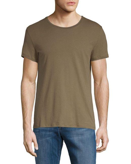 J.Lindeberg - Green Short-sleeve Cotton Tee for Men - Lyst