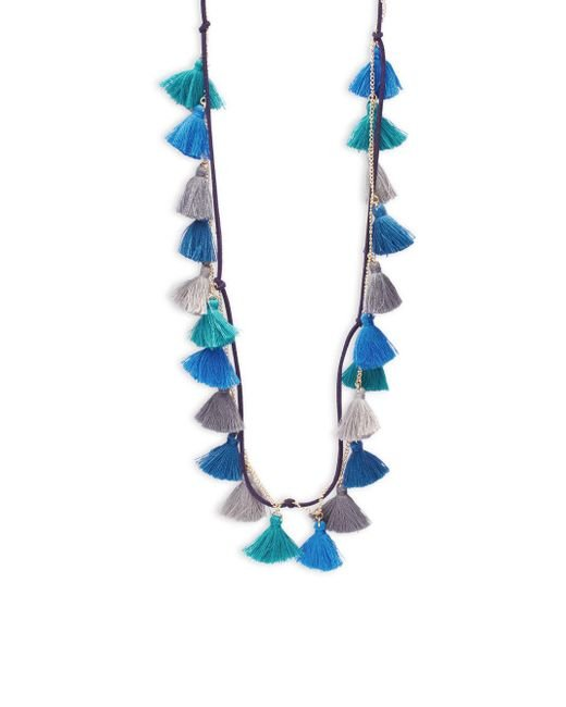 Panacea - Blue Suede And Chain Multiple-strands - Lyst