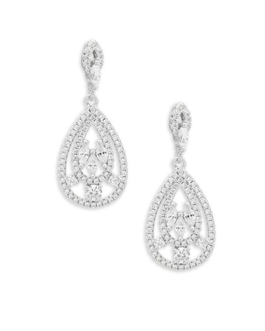 Saks Fifth Avenue - Metallic Crystal Teardrop Chandelier Earrings - Lyst