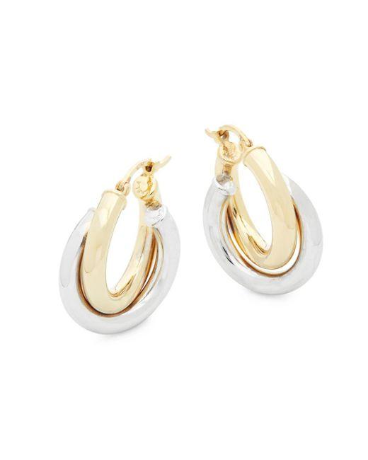 Saks Fifth Avenue - Metallic 14k Gold Double Hoops - Lyst