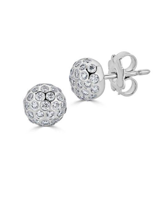 Saks Fifth Avenue - Metallic Ideal-cut Disco Ball Diamond And 14k White Gold Stud Earrings - Lyst