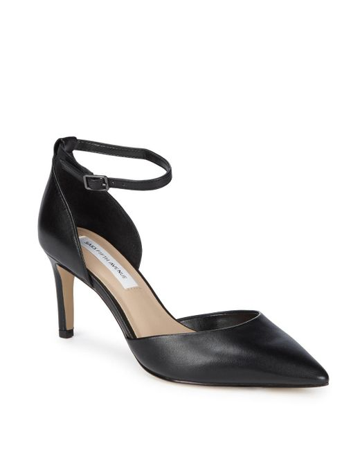Saks Fifth Avenue - Black Mia Leather D'orsay Pumps - Lyst