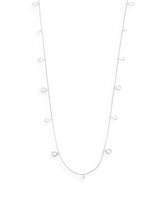 Judith Jack - Metallic Marcasite, White Stone & Sterling Silver Geometric Link Necklace - Lyst