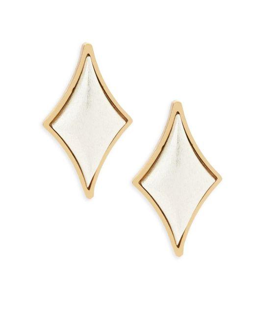 Stephanie Kantis - Metallic Cabochon Diamond Sterling Silver Earrings - Lyst