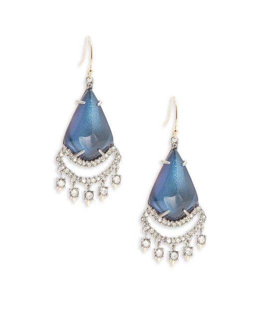 Alexis Bittar | Blue Dangling Crystal & Lucite Teardrop Pendant Earrings | Lyst