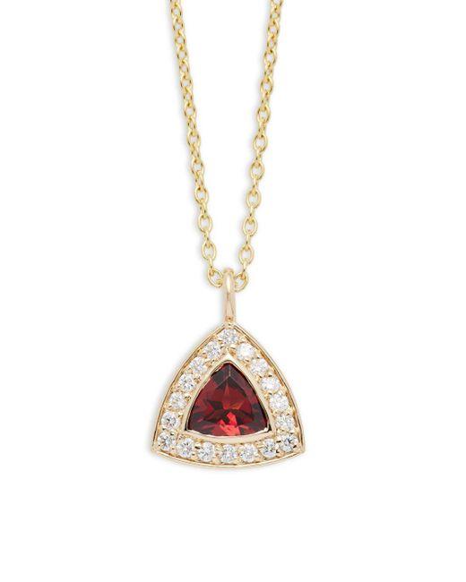 KC Designs   Metallic Diamond, Garnet & 14k Yellow Gold Necklace   Lyst