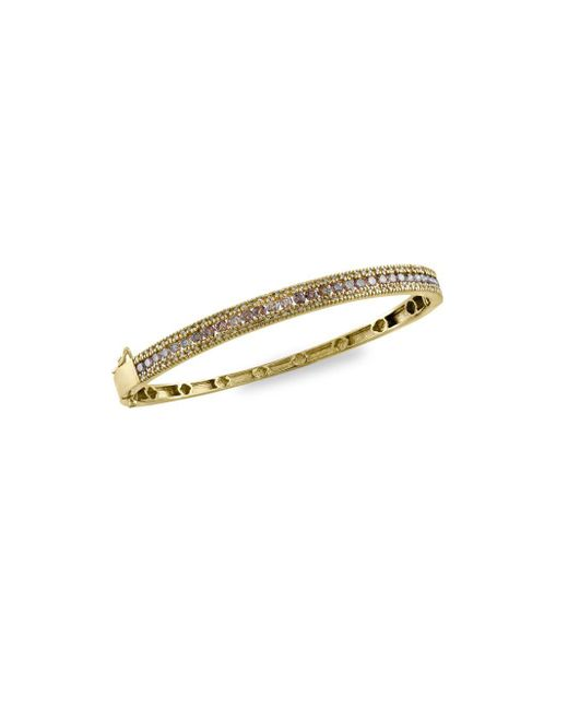 Effy - Metallic Espresso Diamond & 14k Yellow Gold Bangle Bracelet - Lyst