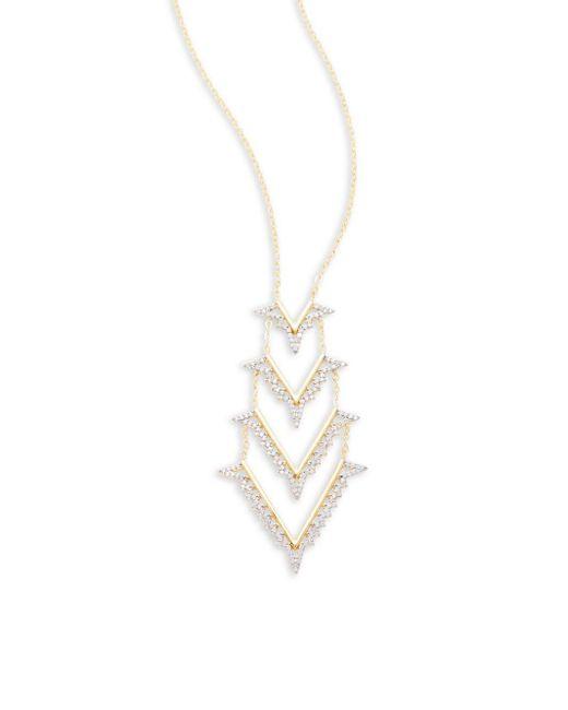 Noir Jewelry   White Opal Pendant Necklace   Lyst