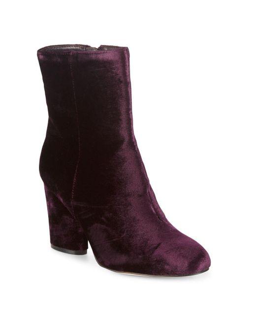 Saks Fifth Avenue - Purple Designed Booties - Lyst