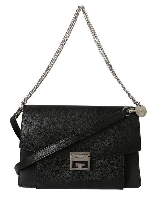 Givenchy - Black Gv3 Foldover Chain Crossbody Bag - Lyst