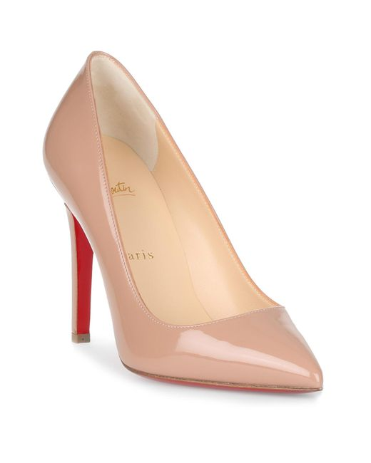 Christian Louboutin - Natural Pigalle 100 Patent Beige Pump Us - Lyst