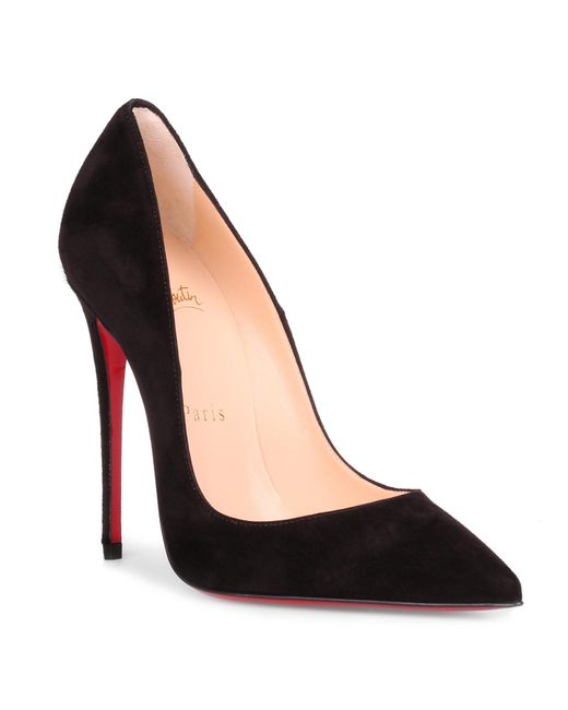 Christian Louboutin - So Kate 120 Black Suede Pump - Lyst