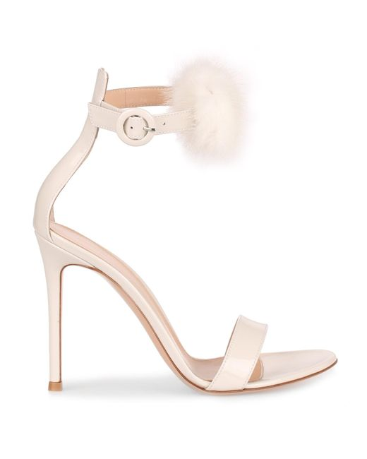 Outlet Enjoy Clearance Very Cheap Brigitte 105 patent off white sandal Gianvito Rossi Low Price Fee Shipping Sale Online Outlet Best Prices Sale Countdown Package bVk1vRk