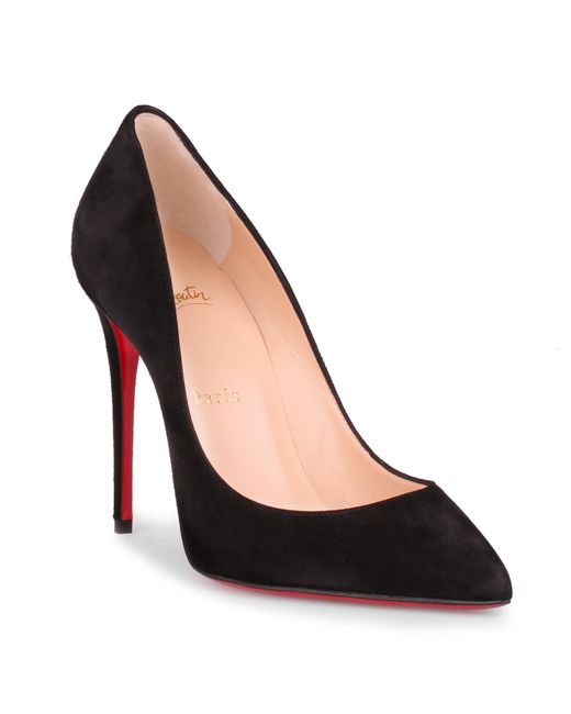 Christian Louboutin - Pigalle Follies 100 Black Suede Pump - Lyst