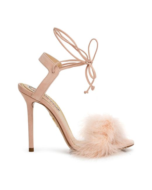 baa0540056e Charlotte Olympia Light Pink 100 Feather Sandals in Pink - Save 13 ...